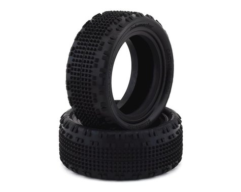"Schumacher Cactus Fusion 2.2"" Front 1/10 4WD Turf Buggy Tire (2) (Silver)"