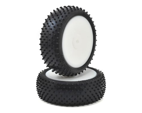 """Schumacher """"Mini Dart""""  2.2"""" 4WD Front Pre-Mounted Turf Tires (2) (Silver)"""