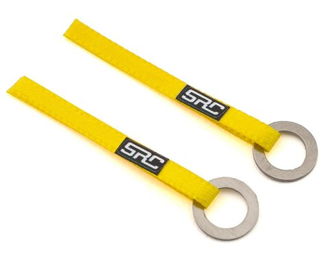 Sideways RC Scale Drift Nylon Tow Sling w/Ring Hook (Yellow) (2)