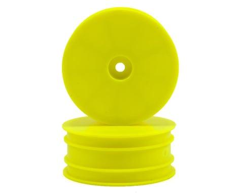 Serpent 12mm 4WD Front Wheels (2) (Yellow) (SRX-4)