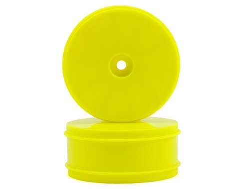 Serpent 12mm Hex 61mm 1/10 4WD Front Buggy Wheels (2) (SRX-4) (Yellow)