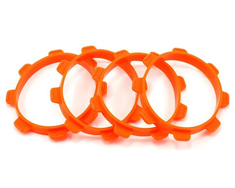 Serpent 1/8 Truck Tire Mounting Bands (Orange) (4)