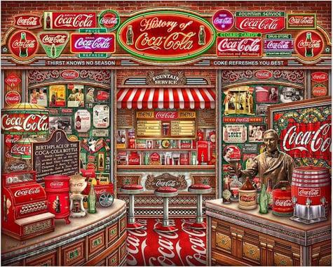 Springbok Puzzles Springbok (10894) 1000 Piece Jigsaw Puzzle Coca Cola History