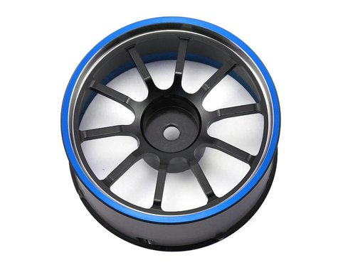 Sanwa/Airtronics M12/M12S Aluminum Steering Wheel (Blue)