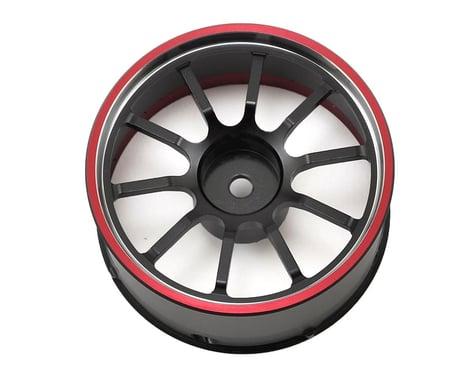 Sanwa/Airtronics M12/M12S Aluminum Steering Wheel (Red)