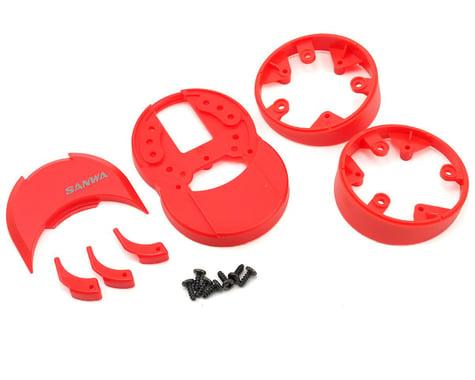 Sanwa/Airtronics M12/M12S Plastic Drop Down (Red)
