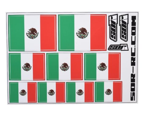 SOR Graphics Universal Mexican Flag Decal Sheet