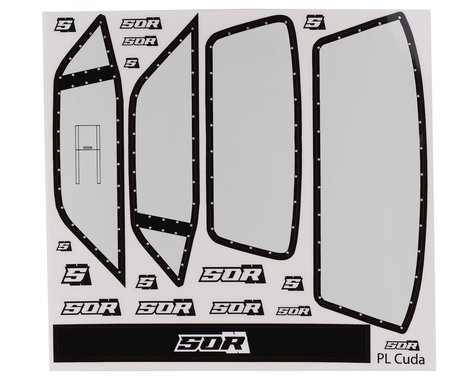 SOR Graphics Eliminator Pro-Line 'Cuda Window Decals (Clear)