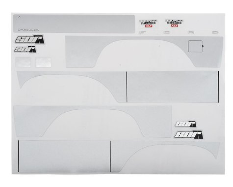 SOR Graphics Traxxas TRX4 Bronco Decal Sheet (Silver Metallic)