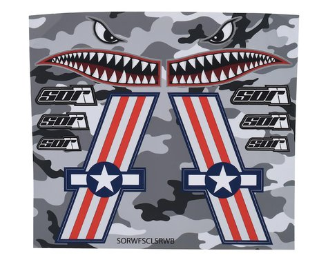 SOR Graphics Warfighter Decal Kit (Red, White & Blue Matte) (Large)