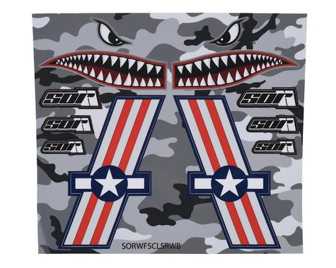 SOR Graphics Warfighter Decal Kit (Red, White & Blue Gloss) (Medium)