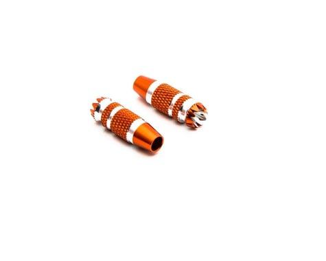 Spektrum RC DX6G2/DX7G2 24mm Gimbal Stick Ends (Orange/Silver) (2)