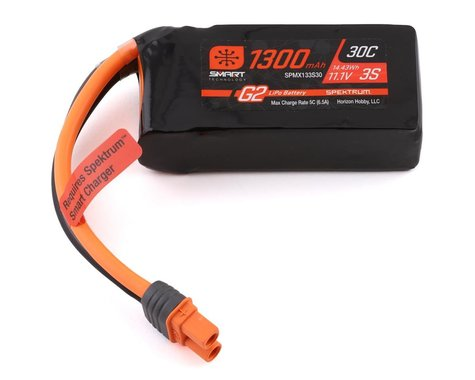 Spektrum RC 3S Smart G2 LiPo 30C Battery Pack w/IC3 Connector (11.1V/1300mAh)