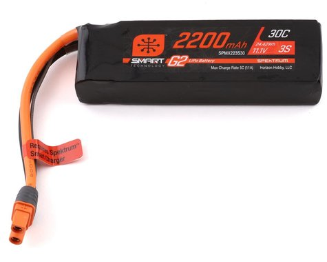 Spektrum RC 3S Smart G2 LiPo 30C Battery Pack (11.1V/2200mAh)