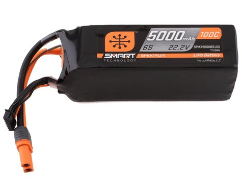 Spektrum RC 6S Smart LiPo Hard Case 100C Battery Pack w/IC5 Connector