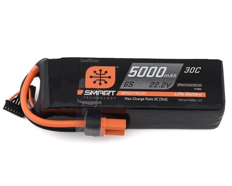 Spektrum RC 6S Smart LiPo Battery Pack w/IC5 Connector (22.2V/5000mAh)