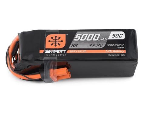 Spektrum RC 6S Smart 50C LiPo Battery Pack w/IC5 Connector (22.2V/5000mAh)
