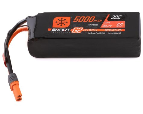 SCRATCH & DENT: Spektrum RC 6S Smart G2 LiPo 30C Battery Pack (22.2V/5000mAh)