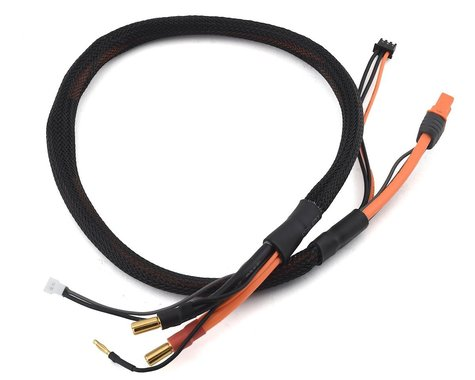 "Spektrum RC IC3 Smart 2S Charge Lead w/5mm Bullets (24"")"