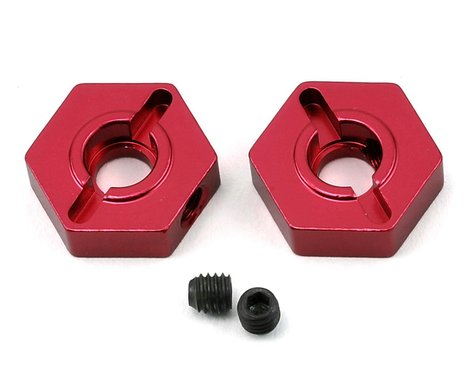ST Racing Concepts Arrma Aluminum Front Hex Adapters (2) (Red)