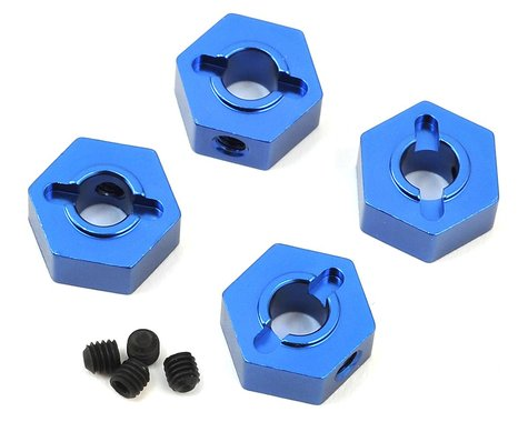 ST Racing Concepts Traxxas 4Tec 2.0 Aluminum Hex Adapters (4) (Blue)