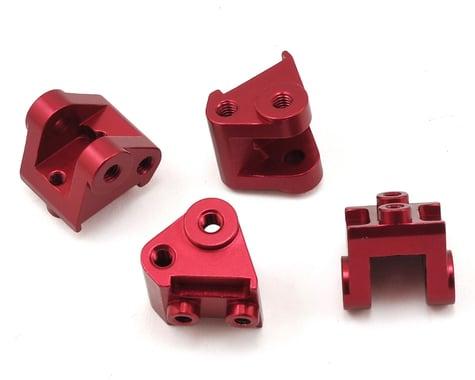 ST Racing Concepts SCX10 II Aluminum Lower Shock/Link Mount (4) (Red)