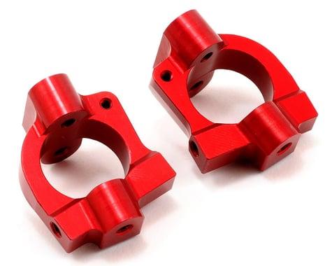 ST Racing Concepts Aluminum HD Caster Block Set (Red) (2)