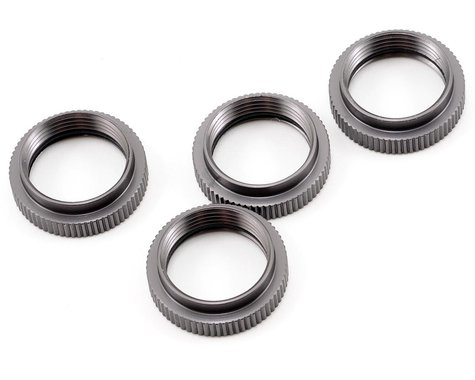 ST Racing Concepts Aluminum Spring Collar Set (Gun Metal) (4)