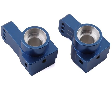 ST Racing Concepts DR10 Aluminum Rear Hub Carriers (Blue) (2) (1° Toe)