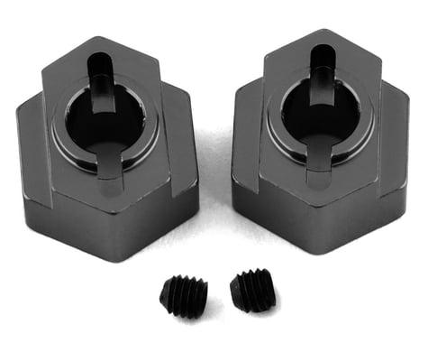 ST Racing Concepts DR10 Aluminum Rear Hex Adapters (2) (Gun Metal)