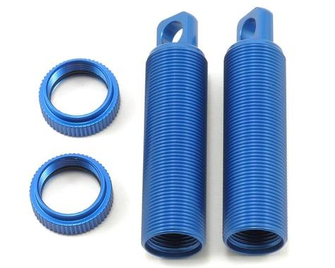 ST Racing Concepts Aluminum Threaded Rear Shock Body & Collar Set (Blue) (2)