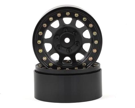 SSD RC D Hole 1.9 Steel Beadlock Crawler Wheels (Black) (2)