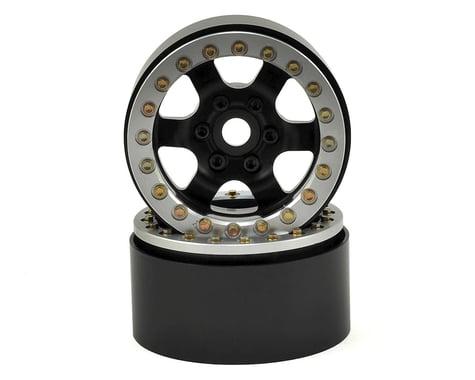 SSD RC 1.9 Rock Racer Wheels (Black/Silver) (2)