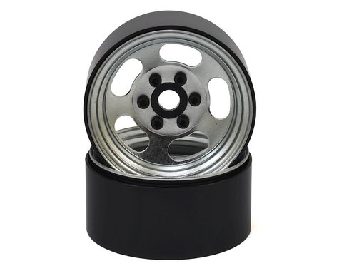 "SSD RC Slot 1.9"" Steel Beadlock Wheels (Silver)"