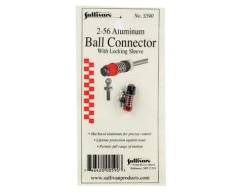 Sullivan 2-56 Aluminum Ball Link with Locking Sleeve (Red)