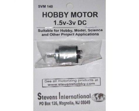 Stevens 1.5 to 3v DC Small Electric Motor (Round Can)