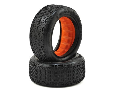 """Sweep 10Droid 2.2"""" 4WD 1/10 Front Buggy Tires (2) (Yellow)"""