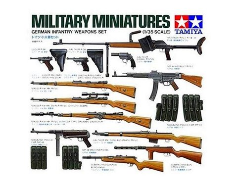 Tamiya 1/35 German Infantry Weapon Set Model Kit