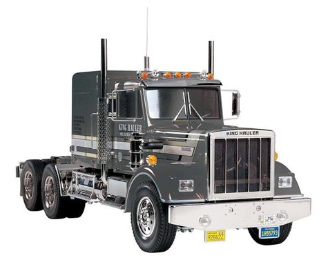 Tamiya 1/14 King Hauler 8WD Semi Tractor Kit, Black Edition
