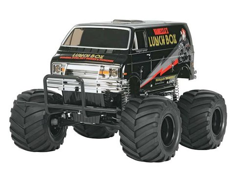"""Tamiya Lunch Box """"Black Edition"""" 2WD Electric Monster Truck Kit"""