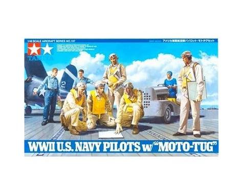 Tamiya 1/48 U.S. Navy Pilots WWII w/Moto-Tug