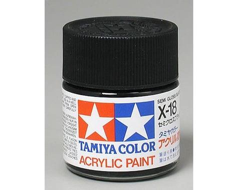 Tamiya Acrylic X18 Semi Gloss Black Paint (23ml)