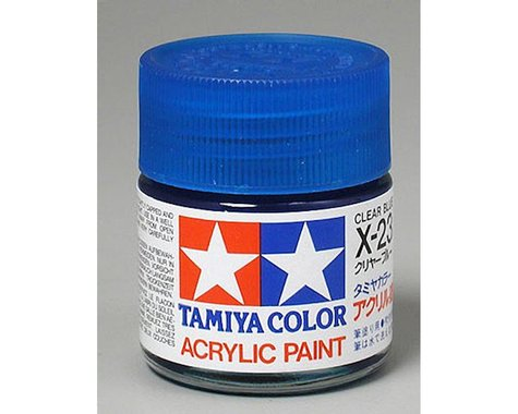 Tamiya X-23 Clear Blue Gloss Finish Acrylic Paint (23ml)