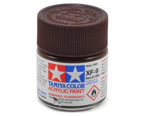 Tamiya Acrylic XF9 Flat Hull Red Paint (23ml)