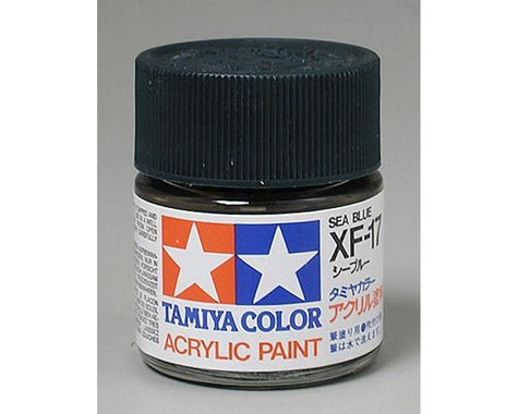 Tamiya XF-17 Flat Sea Blue Acrylic Paint (23ml)
