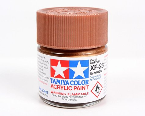 Tamiya XF-28 Flat Dark Copper Acrylic Paint (23ml)