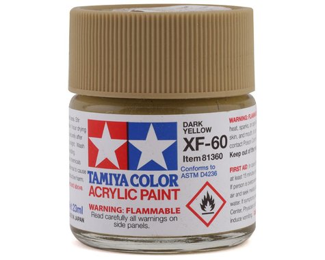 Tamiya XF-60 Flat Dark Yellow Acrylic Paint (23ml)
