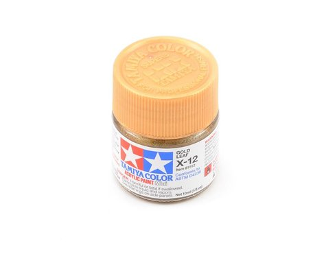 Tamiya Acrylic Mini X12 Gold Leaf Paint (10ml)