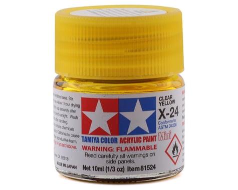 Tamiya Acrylic Mini X24 Clear Yellow Paint (10ml)