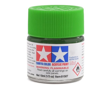 Tamiya Acrylic Mini X25 Clear Green Paint (10ml)